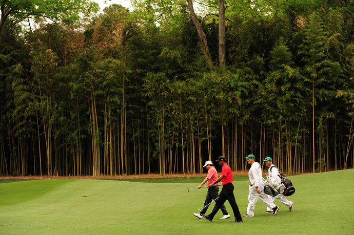 Woods was paired with Tim Clark on Sunday.