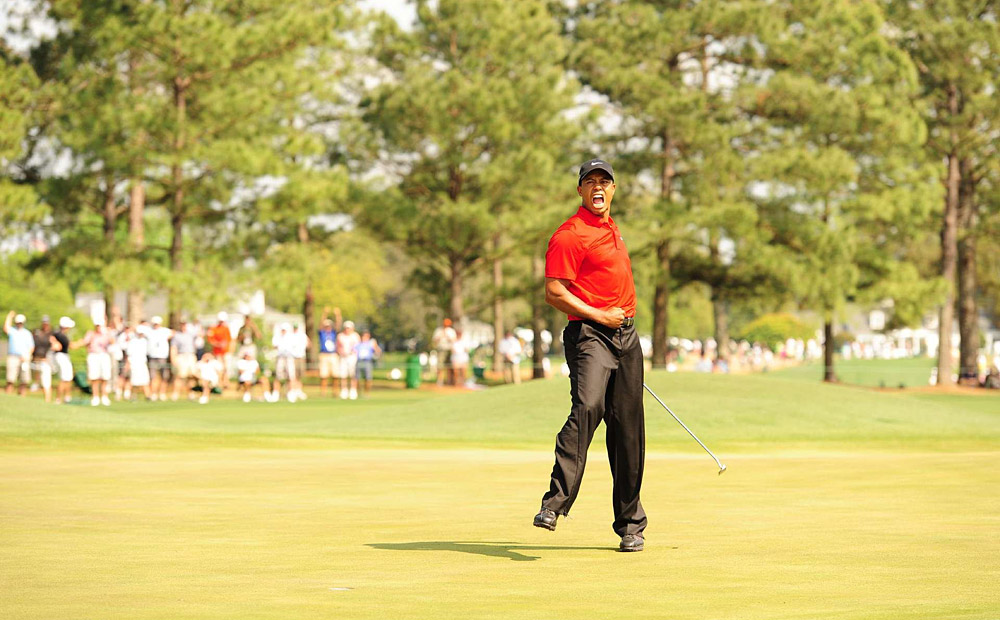 "FALSE ALARM: Tiger's back! We all thought so after Woods made an electrifying eagle at the 8th hole on Masters Sunday to tie for the lead. No he's not! Woods shockingly missed two short putts on the final nine and tied for fourth. Even though Woods ended the season by winning the 18-man Chevron World Challenge, he still has to prove himself in a full field event to be considered ""back."""