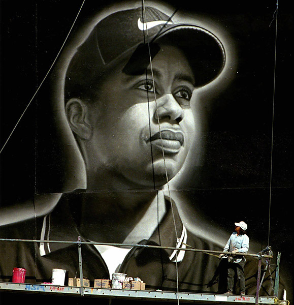 Woods signs Nike mega-deal                       Since signing Tiger Woods in 1996, Nike has become a major player in golf. SI.com estimates Tiger's annual endorsement income to be more than $54 million, with Nike being his biggest benefactor.