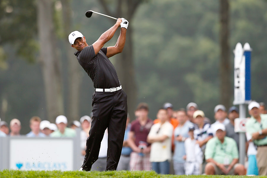 The Barclays is played at Bethpage Black in Long Island, N.Y., site of Tiger's 2002 U.S. Open victory.