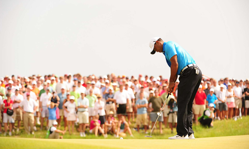 Woods has putted better this week than he has for most of the year.