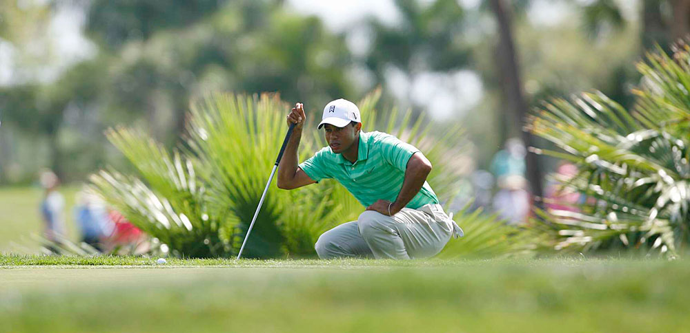 Woods took 28 putts on Saturday, four more than Friday, but six less than Thursday.