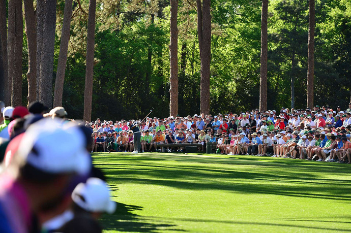 ''I'm right there in the ball game, ''Woods said. ''I'm four back with a great shot to win this championship.''