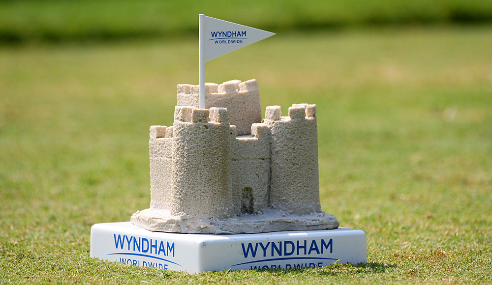 Sand castles at the Wyndham Championship.