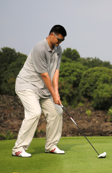 Yao Ming has taken up the game after recently retiring from the NBA.