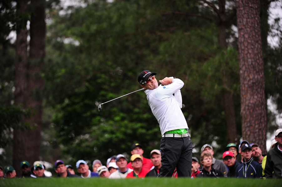 Zach Johnson was in contention until double bogeys on Nos. 9 and 11. He finished with a 74.