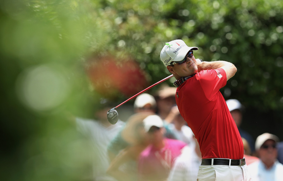 Zach Johnson made birdies on 16 and 17 to shoot a five under 65.