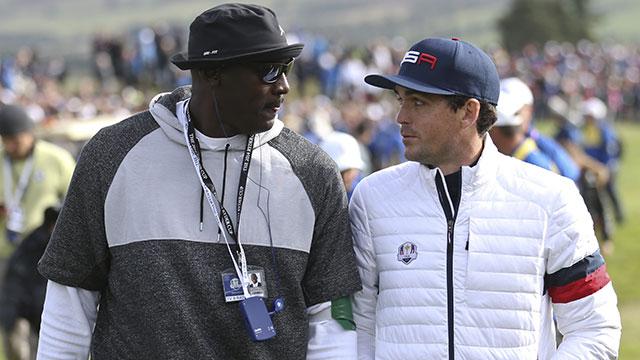 """Jordan talks trash when he's winning. """"When he's quiet, life is good,"""" Bradley says."""