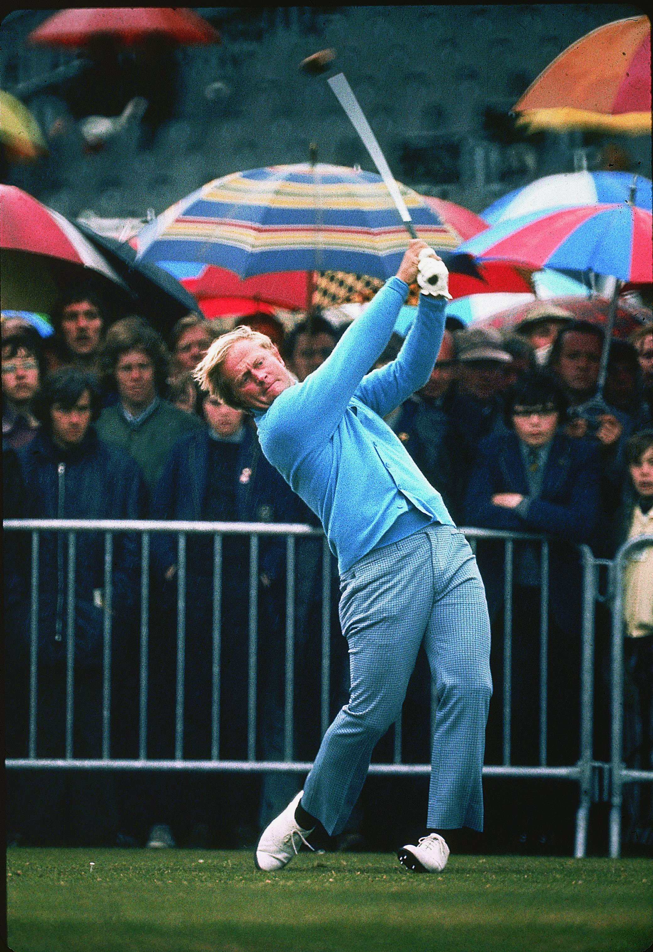 Jack Nicklaus plays at 1972 British Open at Muirfield.