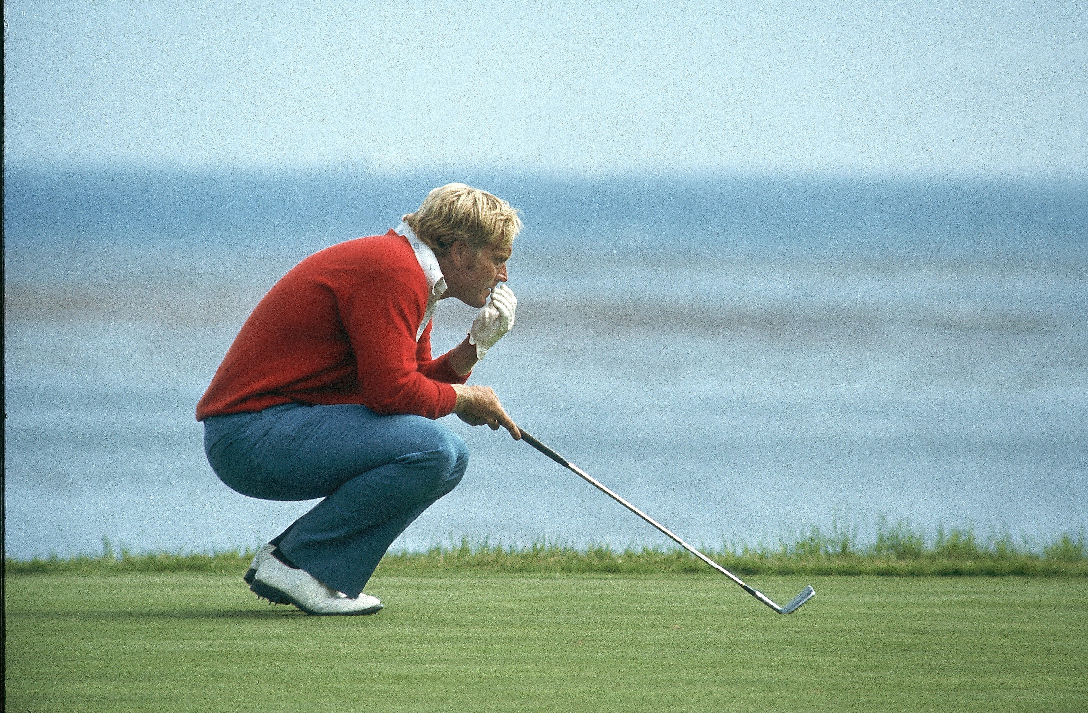 Jack Nicklaus at the 1972 U.S. Open at Pebble Beach.