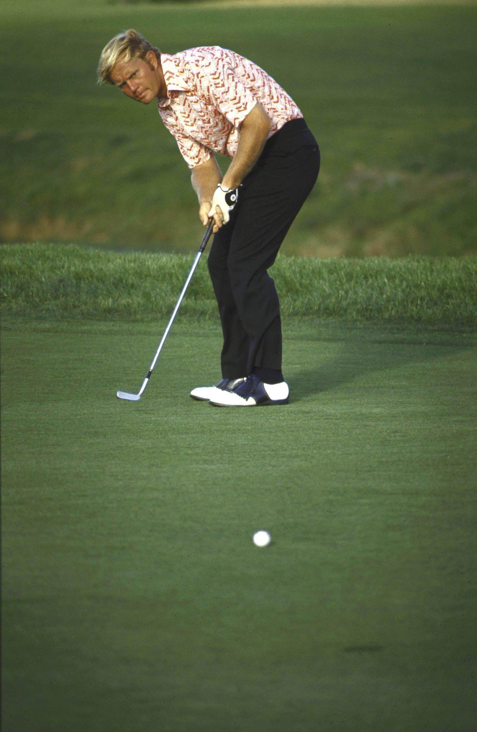 Jack Nicklaus at the 1971 PGA Championship at PGA National in Palm Beach Gardens, Fla.