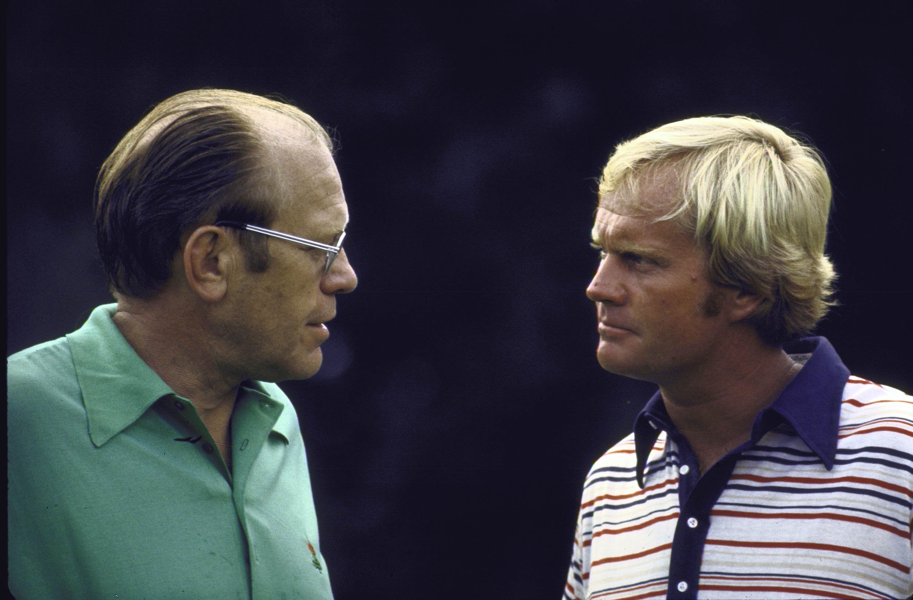 Jack Nicklaus with President Gerald Ford in 1974.