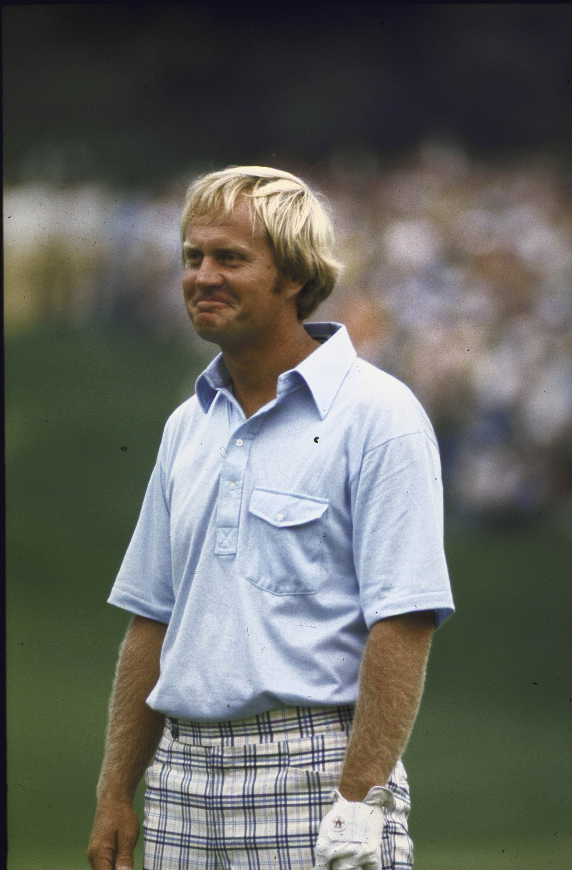Jack Nicklaus at the 1975 PGA Championship at Firestone Country Club in Akron, Ohio.