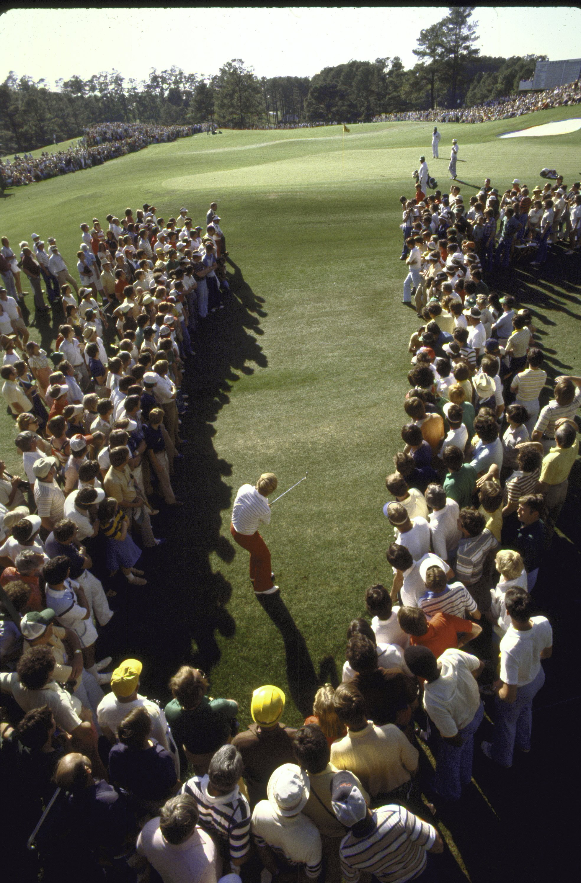 Jack Nicklaus chips at the 1979 Masters.