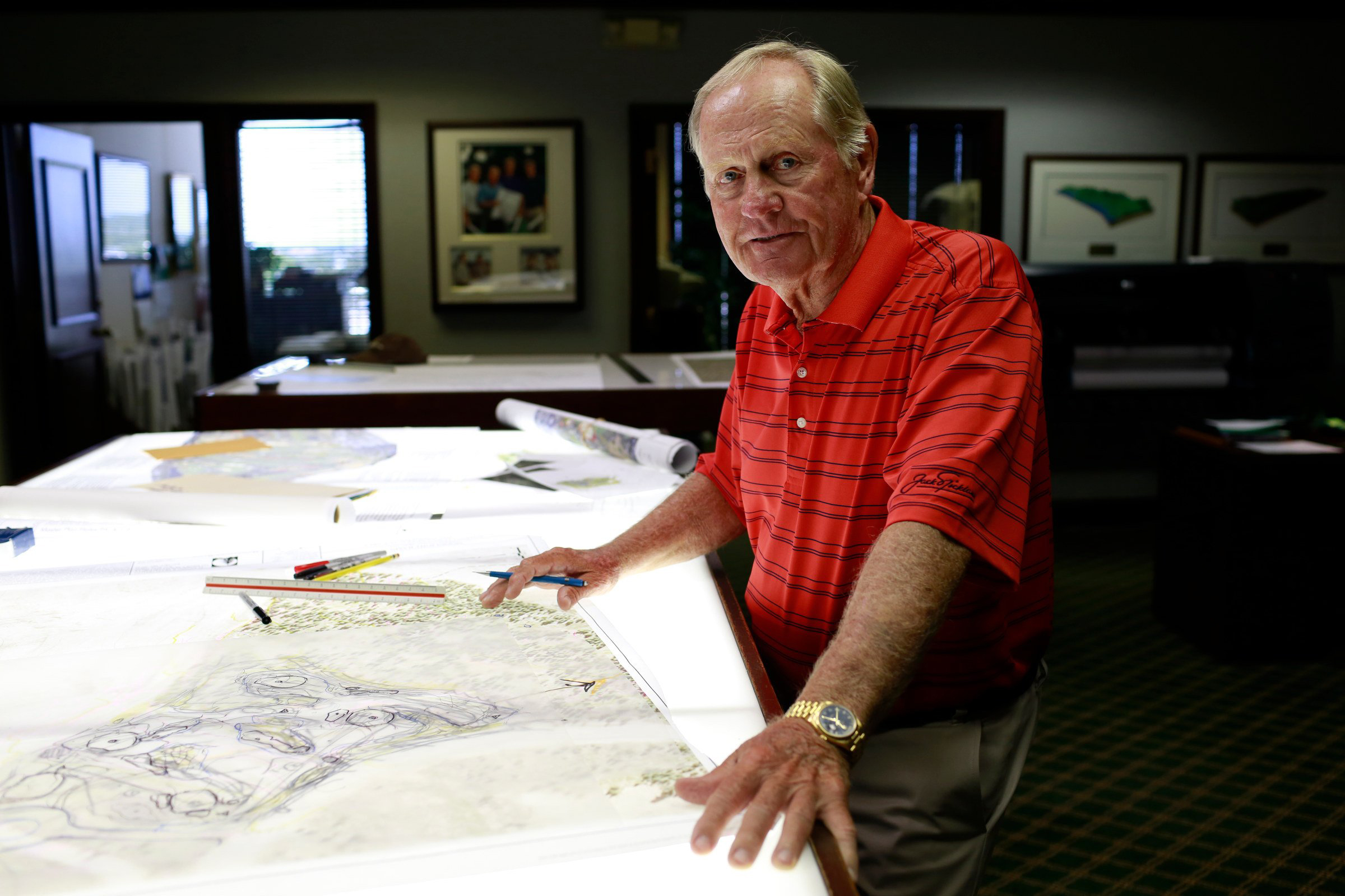 A portrait of Jack Nicklaus, the course designer, in North Palm Beach, Fla. in June 2014.