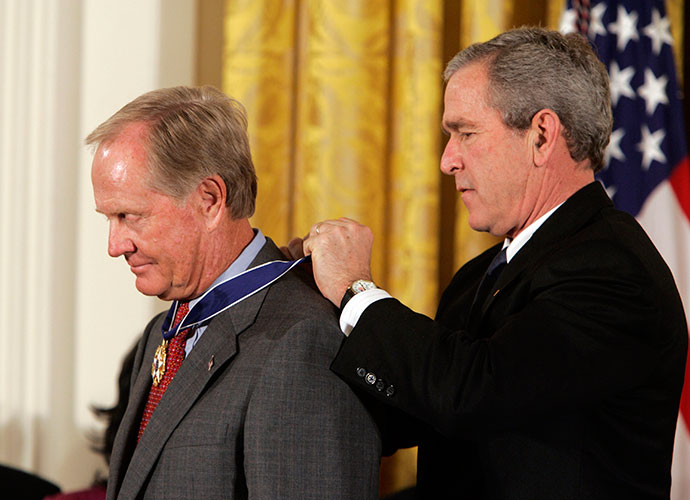 Jack Nicklaus received the Presidential Medal of Freedom from President George W. Bush in 2005.