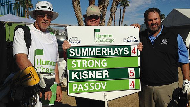 Joe Passov and caddie Sandy at the Humana Challenge.