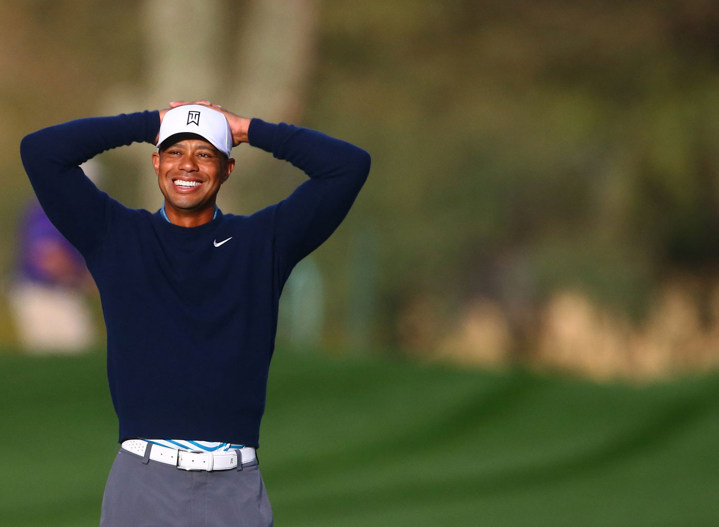 """Overall, I'm very pleased to go out there and hit shots,"" Tiger said after his 9-hole practice round. ""I'm cranking up speed, the speed's coming back. It's going to be a fun year."""