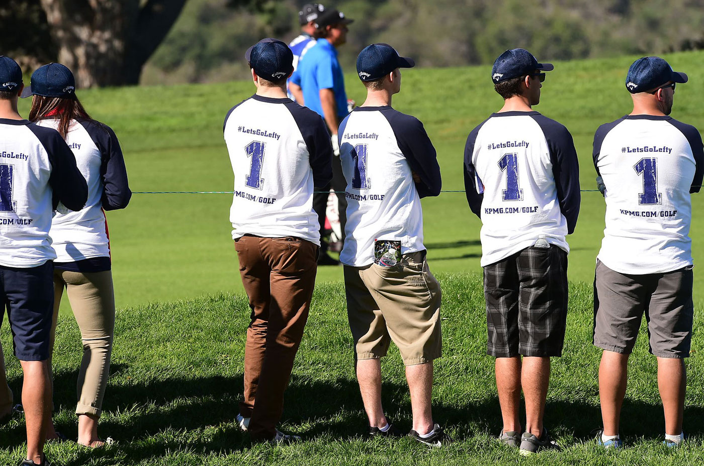 Phil Mickelson fans watch Lefty play the second round at Torrey Pines.