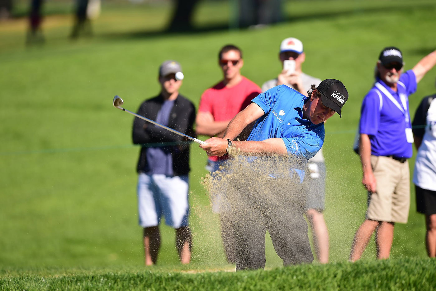 Phil Mickelson had 64 putts in two rounds, including five three-putt greens.