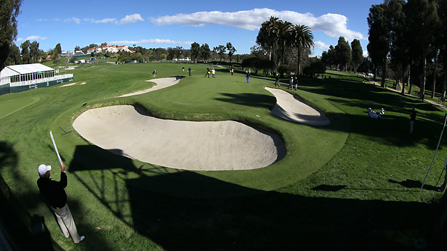 A view from behind the 10th green at Riviera Country Club.