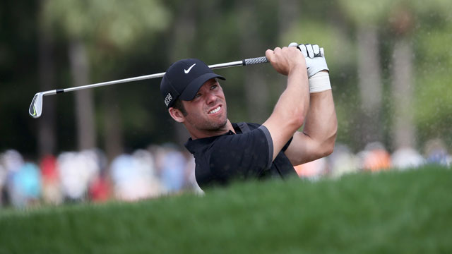 Paul Casey is tied for the lead halfway through the final round of the rain-delayed Honda Classic.