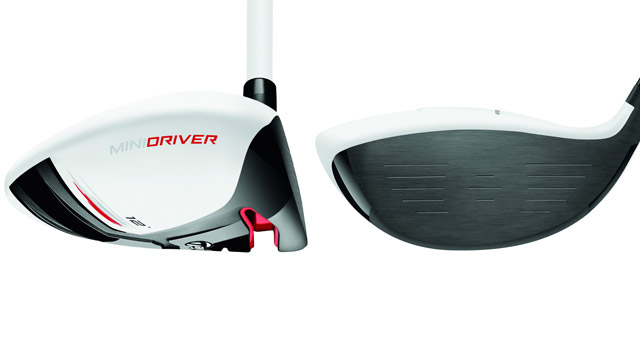A look at the side and face of the TaylorMade AeroBurner Mini driver.
