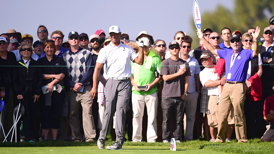 Tiger Woods at the 2015 Farmers Insurance Open at Torrey Pines.