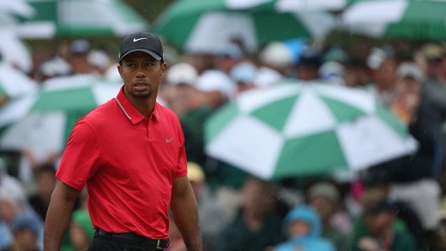Tiger Woods at the 2013 Masters, where he finished in a tie for fourth.