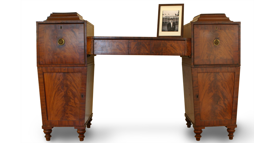 The sideboard, discovered at a Salvation Army store in New York City, proved functional, but it was the connection to Roberts that made the piece priceless.