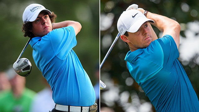 Rory McIlroy then (2009) and now (2015).