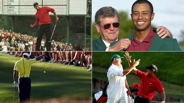 Tiger Woods and his ups and downs at Augusta National.