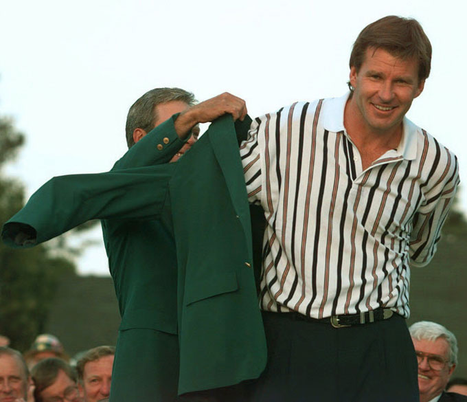 Nick Faldo at the 1996 Masters
