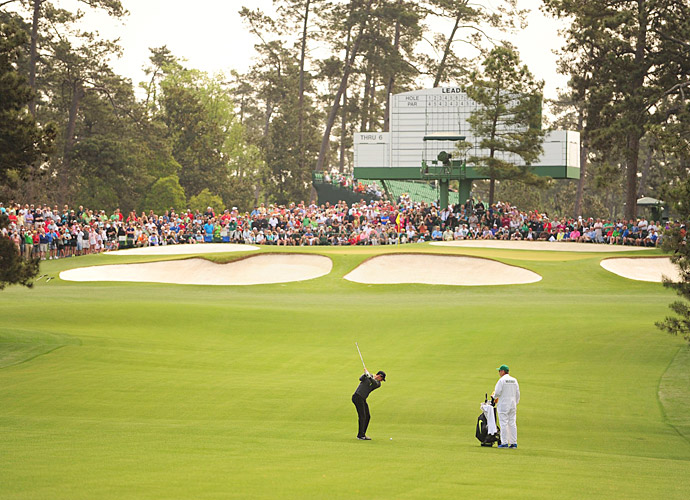 Rory McIlroy was on the course for a practice round Monday at Augusta National.