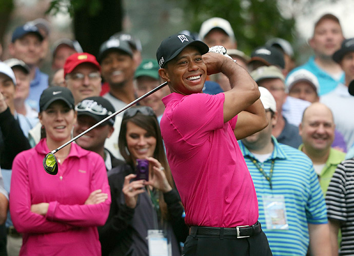 Woods also played a practice round Tuesday morning.