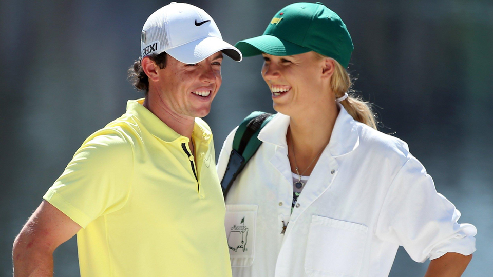 Caroline Wozniacki was McIlroy's caddie last year at the par-3 contest.