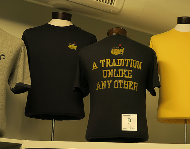Masters merchandise for sale at Augusta National in 2015.