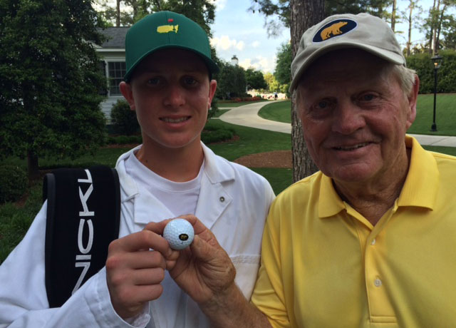 Jack Nicklaus and his grandson, Stevie.
