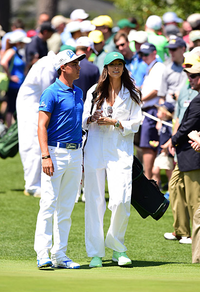 Rickie Fowler was joined by girlfriend Alexis Randock for the Par-3 contest.