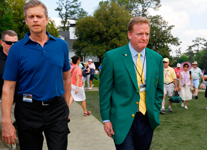 NFL Commissioner and Augusta National member Roger Goodell was on site Wednesday.