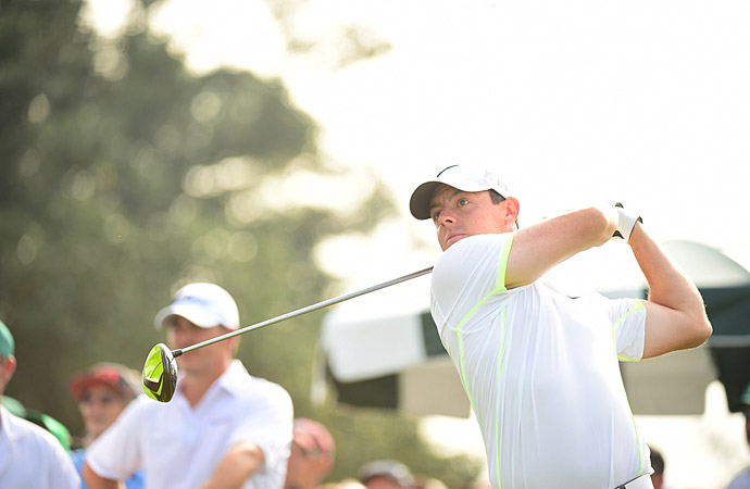 Rory McIlroy played a few holes Wednesday morning.