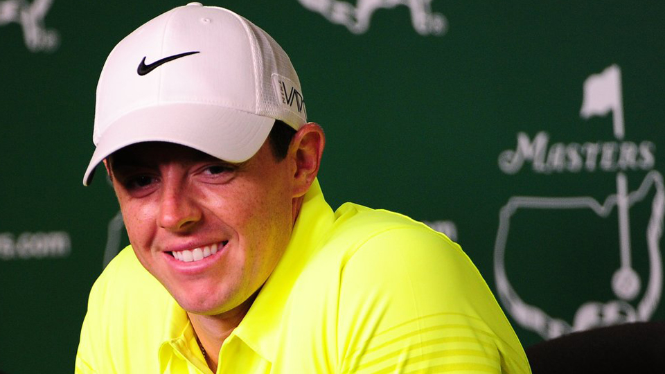 Rory McIlroy, speaking during a press conference Tuesday, might help take pressure off Woods as McIlroy eyes the career grand slam.