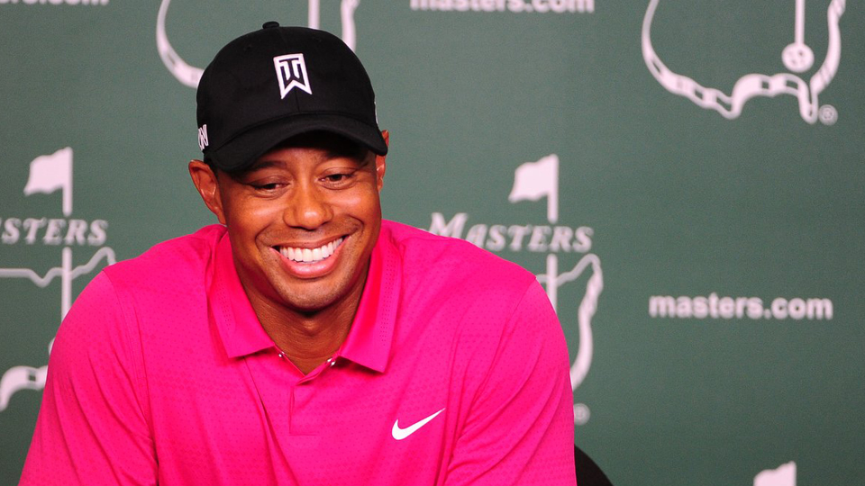Tiger was all smiles during his press conference Tuesday.