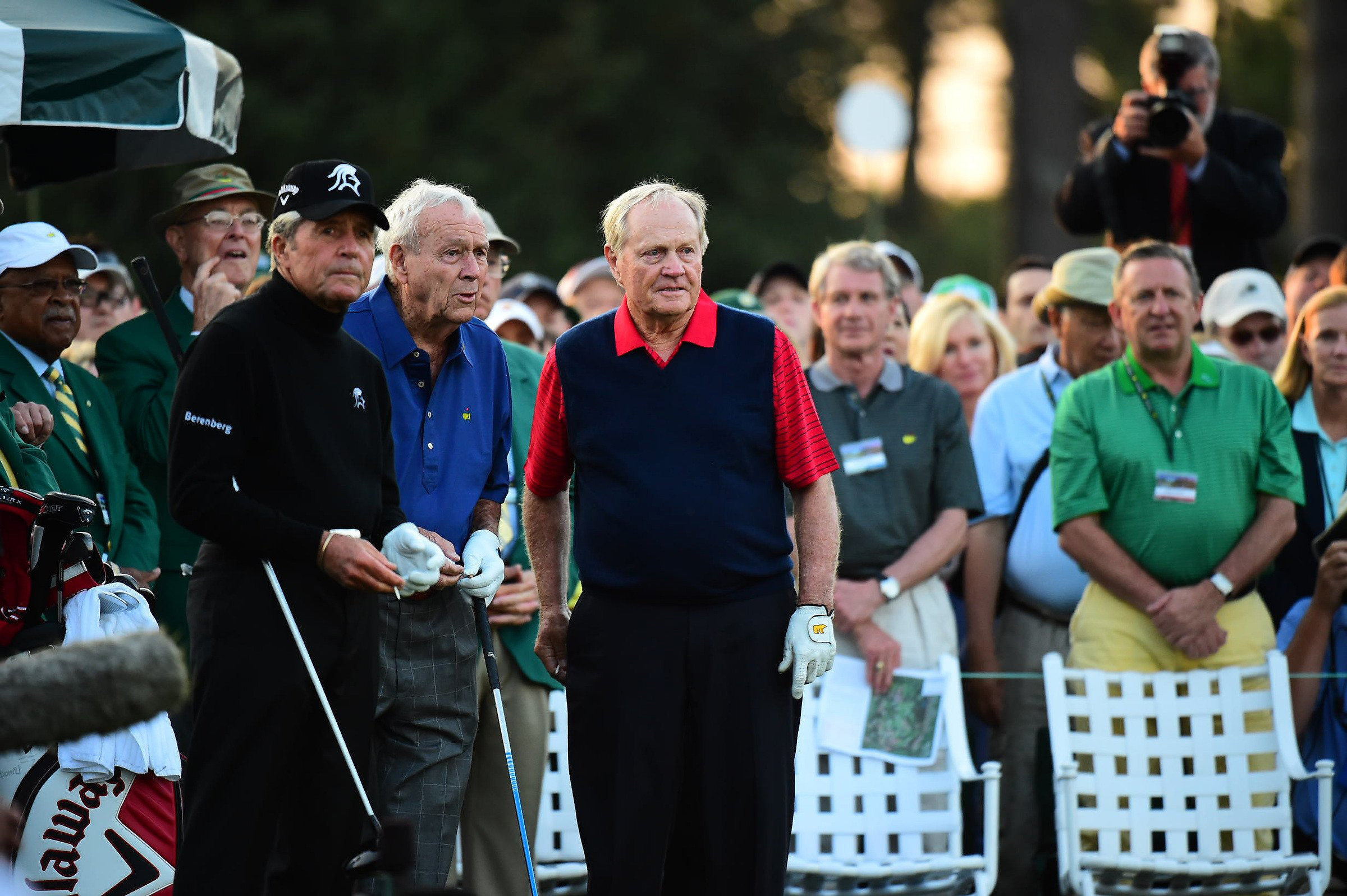 Gary Player, Arnold Palmer and Jack Nicklaus have 13 Masters titles between them, six for Nicklaus, four for Palmer and three for Player.