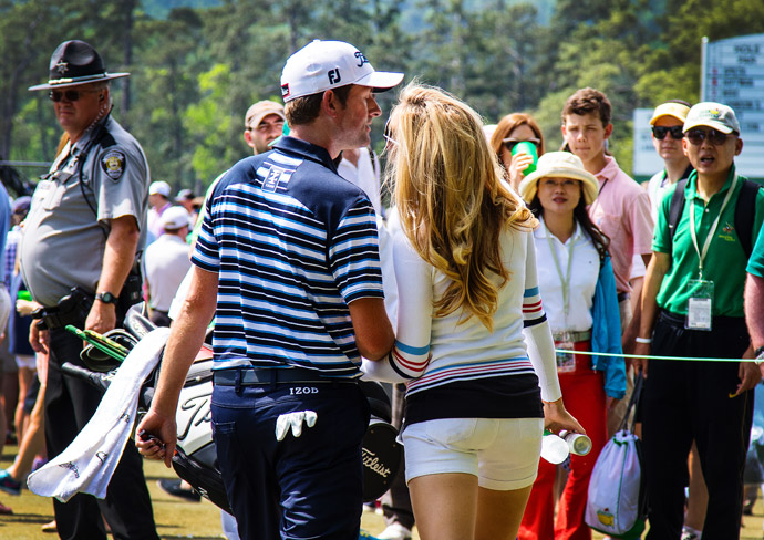Webb Simpson and his wife Dowd.