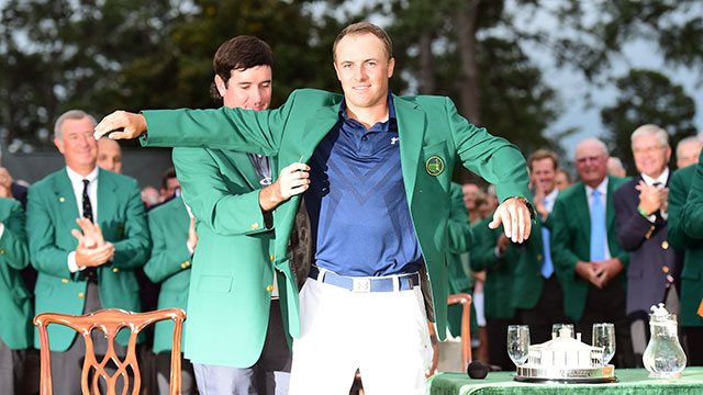 Bubba Watson welcomed Spieth to an exclusive club.