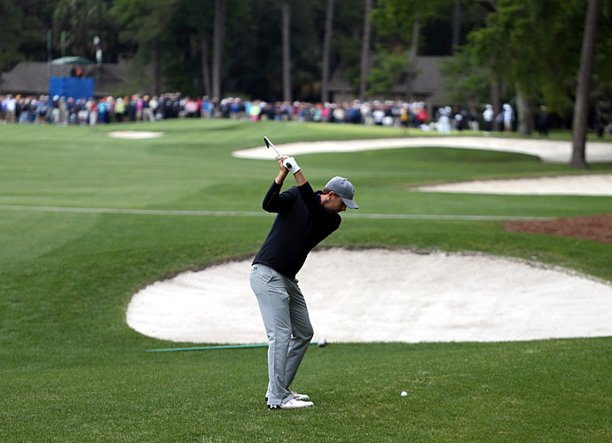Spieth struggled in the first round at Harbour Town.
