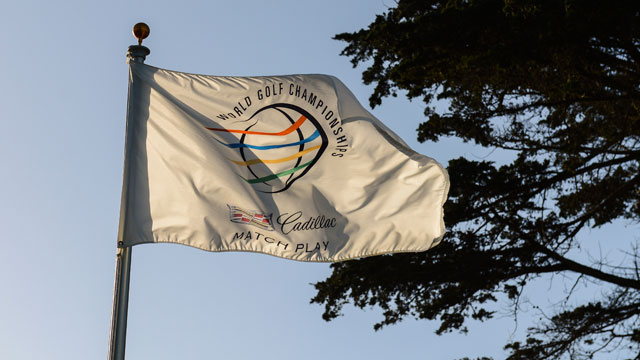 A flag for the 2015 World Golf Championships-Cadillac Match Play flies at TPC Harding Park on March 29, 2015 in San Francisco, California