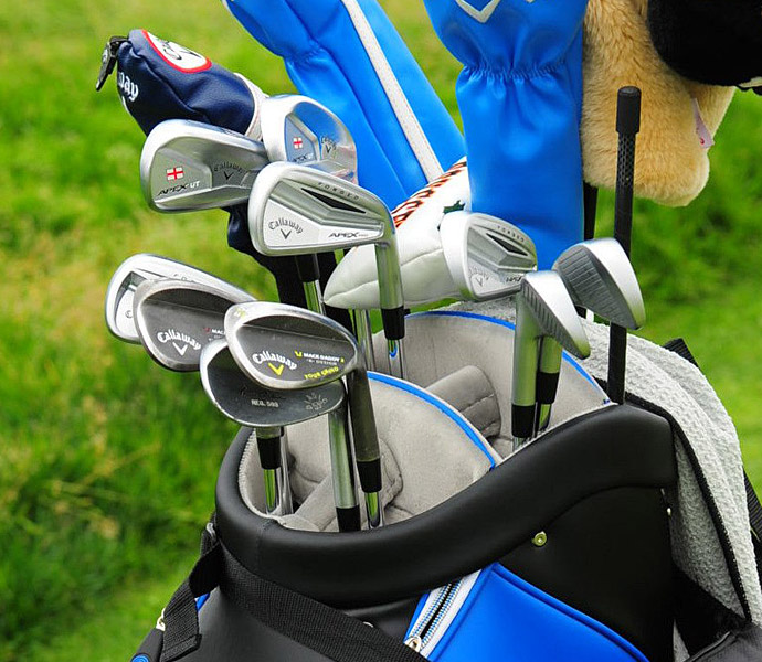 Danny Willett plays a mix of Callaway irons, including Callaway Apex Pros.