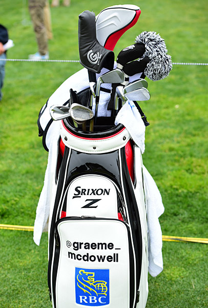 Graeme McDowell's golf clubs.
